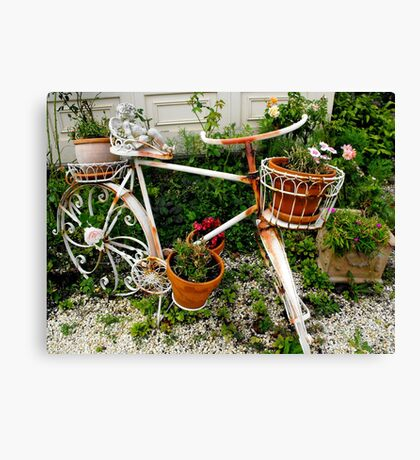 Bike at the Victoria Bed and Breakfast Canvas Print