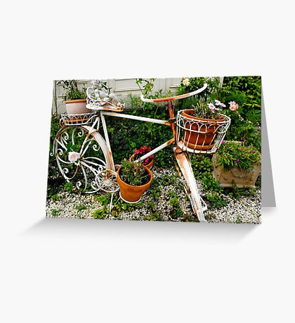 Bike at the Victoria Bed and Breakfast Greeting Card