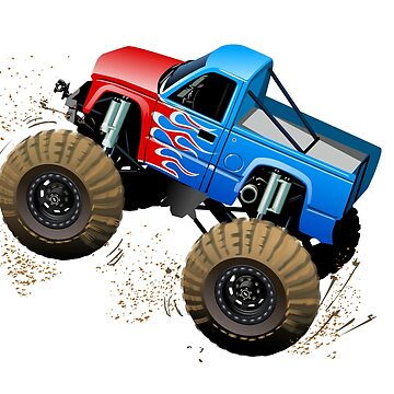 Cartoon Monster Truck isolated on white background by Mechanick