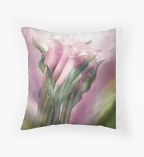Pink Callas In Calla Vase Throw Pillow