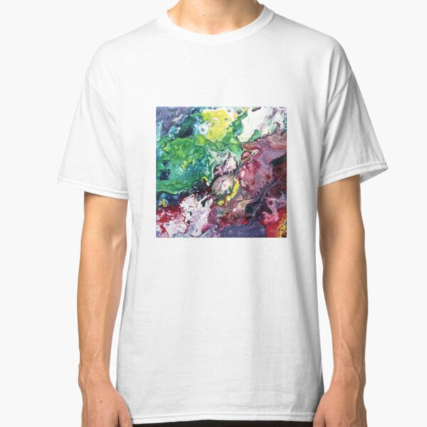 Abstract Fluid Art Painting Classic T-Shirt