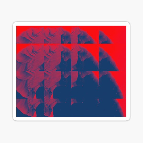 Apertures, red Sticker