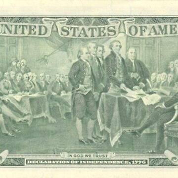 Two Dollars, United States Declaration of Independence by TOMSREDBUBBLE