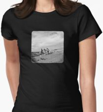 after the waves (on black) Womens Fitted T-Shirt