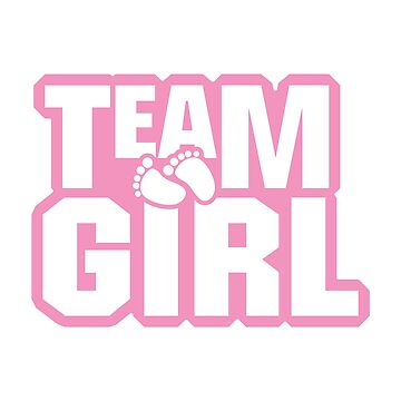 Team Girl Baby Shower Gender Reveal Party Pink  by macshoptee
