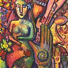 Ancient Fertility Goddess of Mexico Tribal Art by Candace Byington