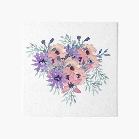 Floral Heart  Art Board Print