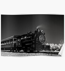 Flagg Coal Steam Engine BW IR 1 Poster