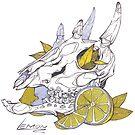 MorbidiTea - Lemon with Four Horned Antelope Skull by MicaelaDawn