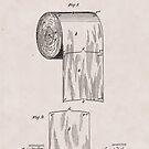 Original Toilettenpapier US Patent Nr. 465,588 von Seth Wheeler (22. Dezember 1891) von allhistory