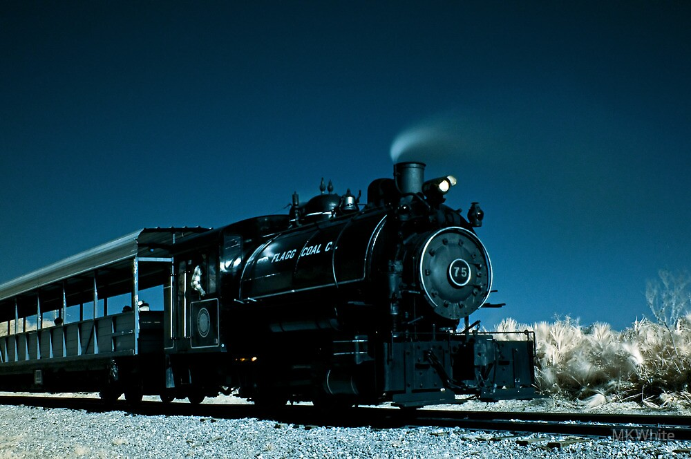 Flagg Coal Steam Engine Color IR by MKWhite