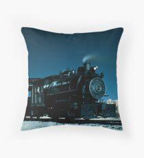 Flagg Coal Steam Engine Color IR Throw Pillow