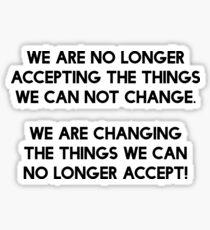 Wir sind die Veränderung Sticker