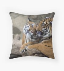 Momma Nuzzles Throw Pillow