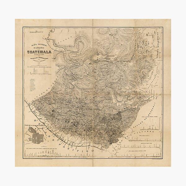 Vintage Map of Guatemala (1859) Photographic Print