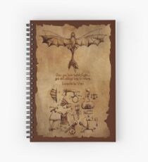 DaVinci's Dragon (Hiccup's Sketchbook) Spiral Notebook