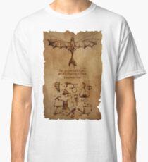 Camiseta clásica El dragón de DaVinci (Sketchbook de Hiccup)