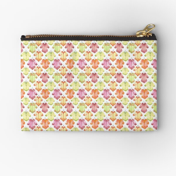Hand Painted Watercolor Pattern - Boho Tunic Tile Zipper Pouch