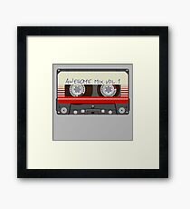 Guardians Awesome Mix Vol 1 Framed Print