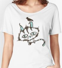 Teal Sky Kitty Women's Relaxed Fit T-Shirt