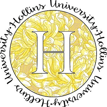 Hollins University 'H' yellow Lilly by jennaannx11