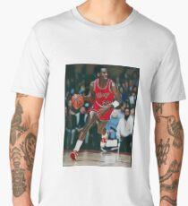 Young Mike Ballin' Portrait Men's Premium T-Shirt