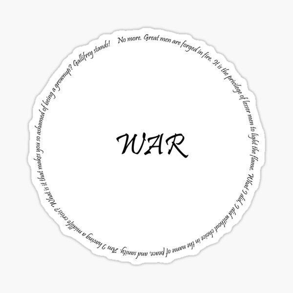 Doctor of War Sticker