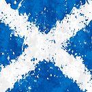 «Bandera de Escocia Acción Pintura - Grunge desordenado» de Garyck Arntzen