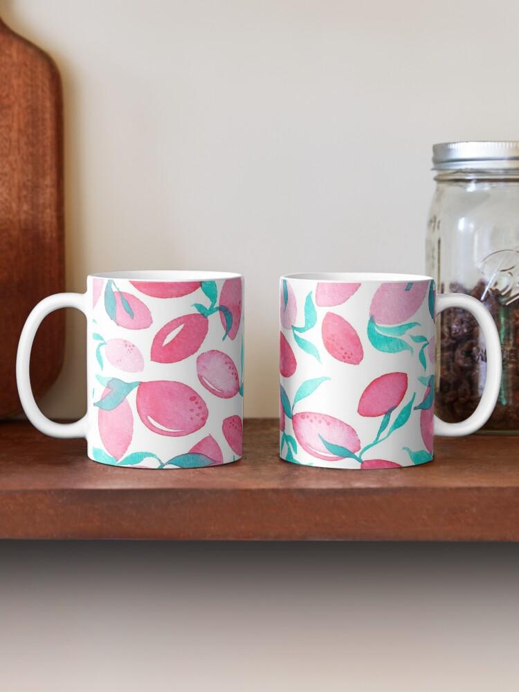 Alternate view of Hand Painted Watercolor Pattern - Pink Lemons Mug
