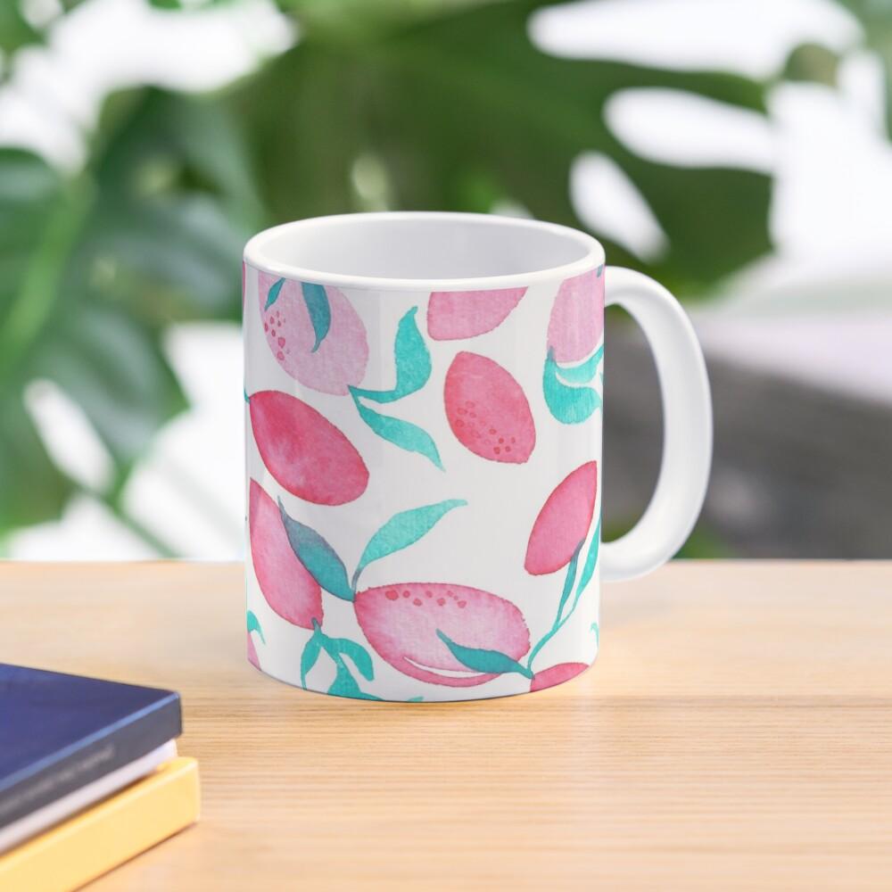 Hand Painted Watercolor Pattern - Pink Lemons Mug