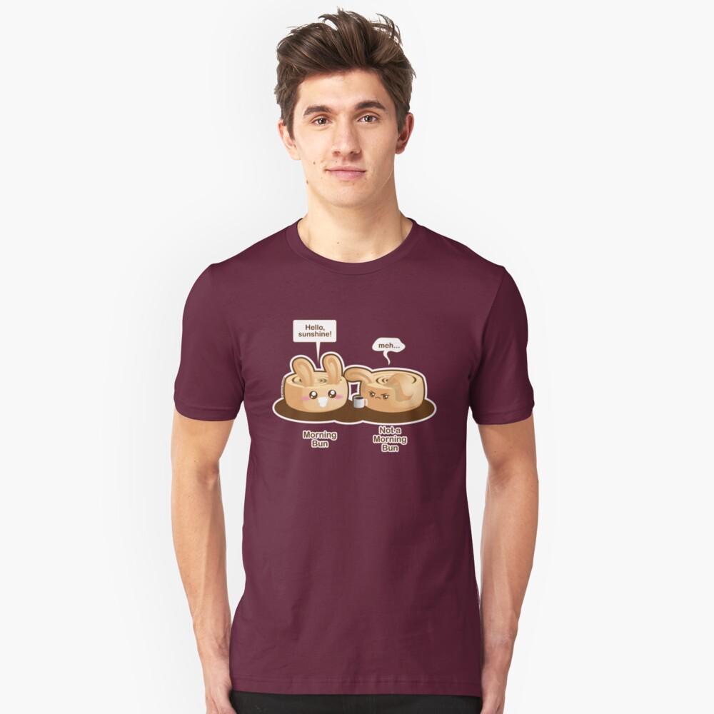 Cute Pun: Morning Bun and Not a Morning Bun Slim Fit T-Shirt
