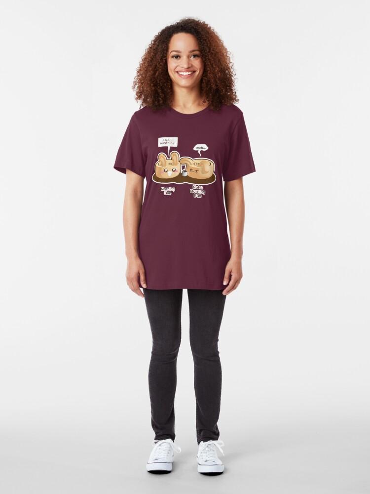 Alternate view of Cute Pun: Morning Bun and Not a Morning Bun Slim Fit T-Shirt