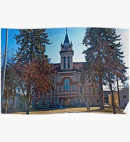 Flathead County Montana Court House Poster