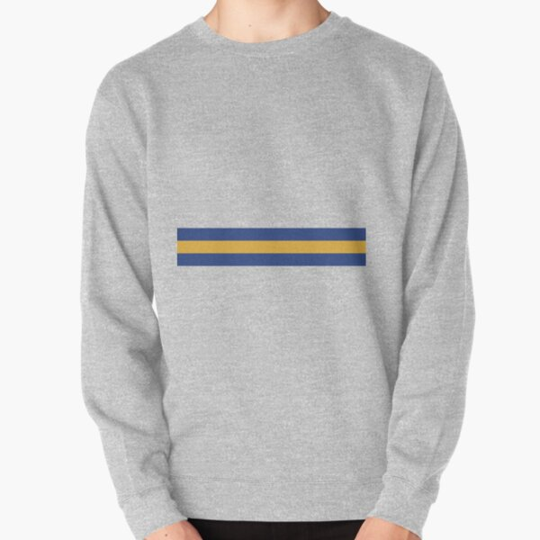 Leeds United Retro 1994 Home Jersey White Yellow Blue Bar Design Pullover Sweatshirt