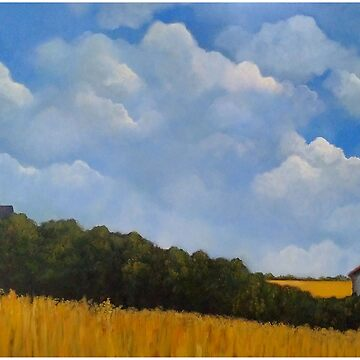 Wheat Fields In Summer, Acrylic Painting by Joyce