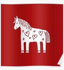 Dala-Pferd Poster
