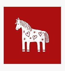 Dala-Pferd Fotodruck