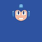 Megaman face by gingerraccoon