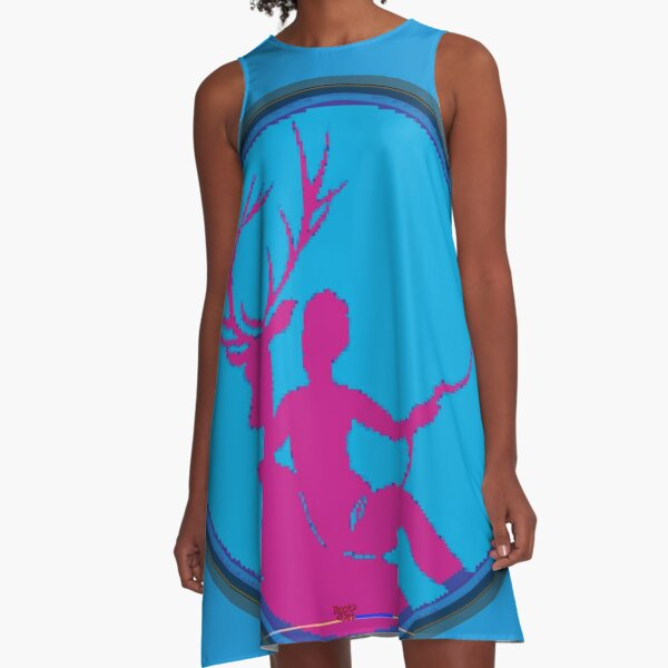 """Diane is p ^ nk"" [Ascii art pixelated by RootCat] * A-Line Dress"