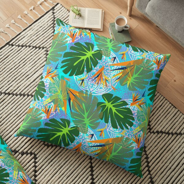 My Tropical Paradise by Lorloves Design Floor Pillow