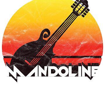 MANDOLINE GUITAR SUNSET GIFT by fatshirt