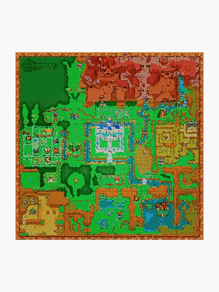 Mosaic Hyrule Map | The Legend of Zelda: A Link Between Worlds |  Photographic Print