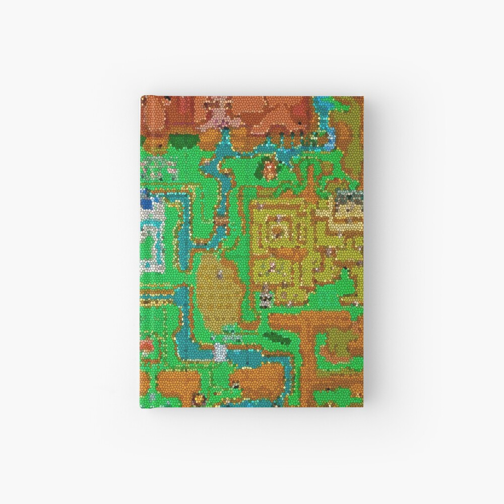 Mosaic Hyrule Map | The Legend of Zelda: A Link Between Worlds | Hardcover  Journal