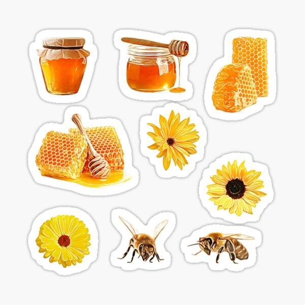 Honeybees ~ Honey, Flower, and Bee Sticker Sheet Bundle Pack ~ Collection Set 2 Sticker