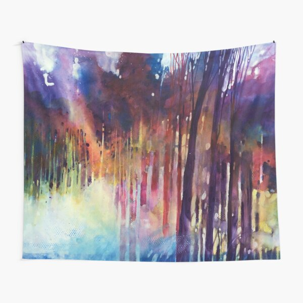 Lampi di luce nella forest Tapestry