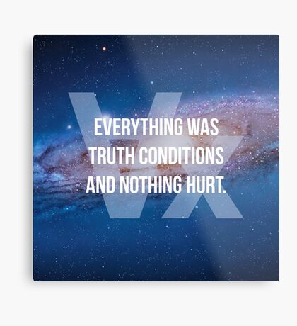 Truth Conditions Metal Print