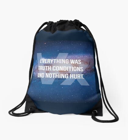 Truth Conditions Drawstring Bag