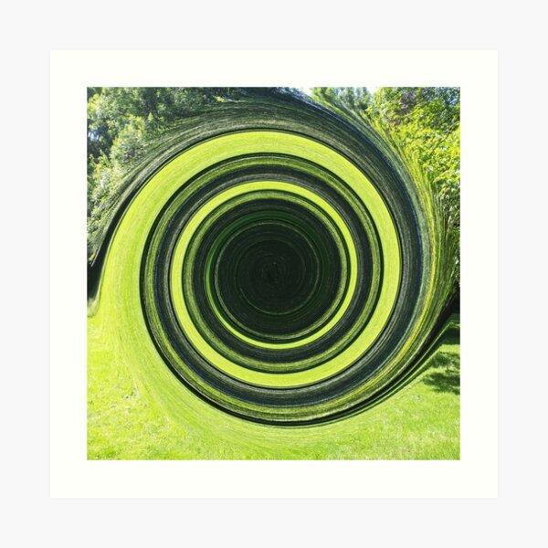 grüne Spirale Art Print