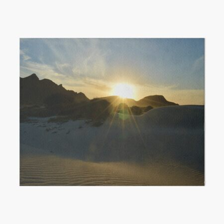 Sunrise Over Baja Art Board Print