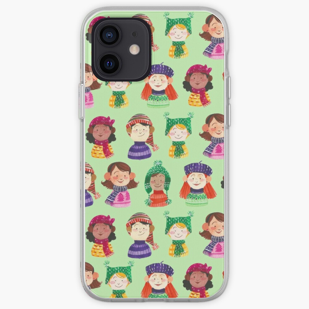Hand Painted Watercolor and Gouache Pattern - Snow Day iPhone Case & Cover